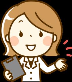 レプチモの副作用を説明する女医